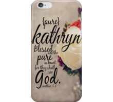 Kathryn iPhone Case/Skin