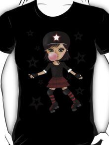 Roller Derby Girl with background T-Shirt