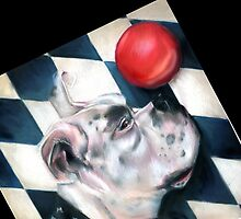Harlequin Boxer, Captain Tiberius, Iphone case, by Alma Lee by Alma Lee