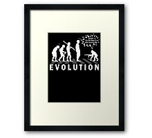 Evolution Stop Walking (Darwin Theory) Framed Print
