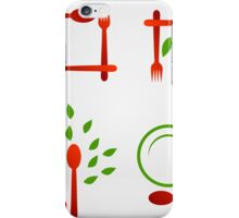 Organic cuisine artwork iPhone Case/Skin