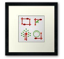 Organic cuisine artwork Framed Print