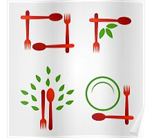 Organic cuisine artwork Poster