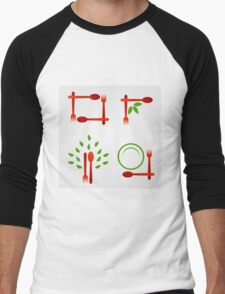 Organic cuisine artwork Men's Baseball ¾ T-Shirt