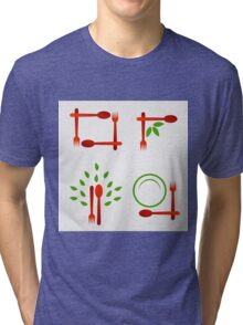 Organic cuisine artwork Tri-blend T-Shirt