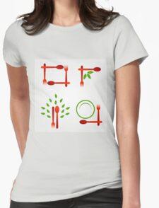 Organic cuisine artwork Womens Fitted T-Shirt
