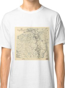 World War II Twelfth Army Group Situation Map November 18 1944 Classic T-Shirt