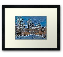 Sandals in the Snow Framed Print