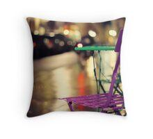 _Rainy Night_ Throw Pillow