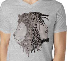 fusion lion  Mens V-Neck T-Shirt