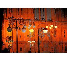 The Essence of Croatia - Zagreb Night Lights Photographic Print