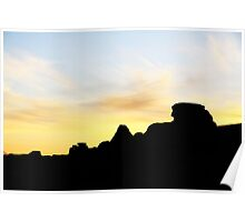 Sunset at Writing on Stone Poster