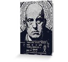 Mister Aleister crowley Thelema 777 Greeting Card