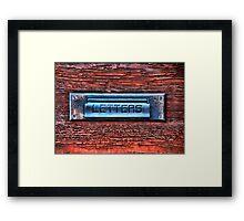 Mail Slot Framed Print