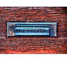Mail Slot Photographic Print