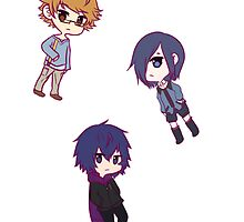Tokyo Ghoul Chibi Character Stickers - Part 2 by loltias