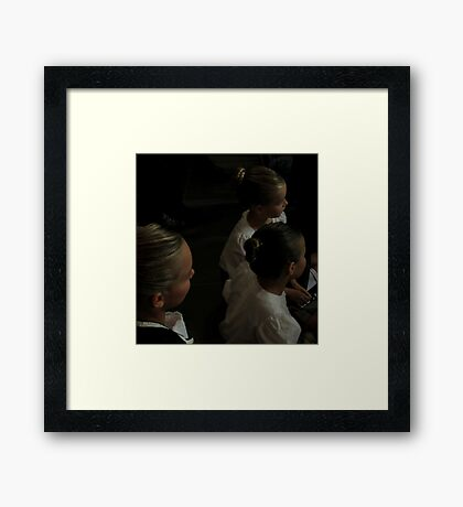 Three Young Highland Dancers Framed Print