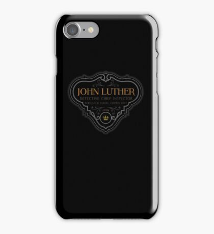 Luther - Badge - Colored Dirty iPhone Case/Skin