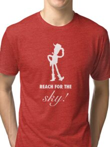 Toy Story Woody Reach For The Sky Tri-blend T-Shirt