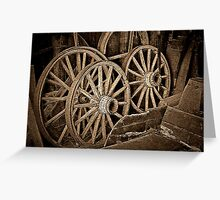 The old wagon wheels Greeting Card