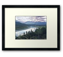 Columbia River At Trail (2) Framed Print