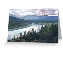 Columbia River At Trail (2) Greeting Card