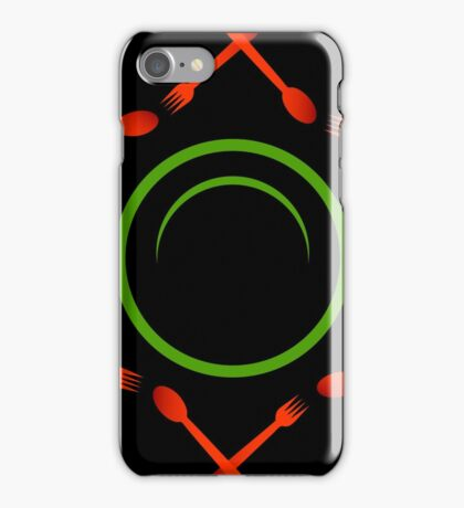 A plate with spoons and forks iPhone Case/Skin