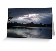 Horizon Silhouette Greeting Card