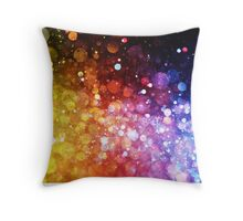 Crazy Colors Throw Pillow