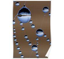 Web droplets, Skullbone Plains, Tasmania Poster