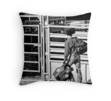 The Wild Ride of the Rodeo Throw Pillow