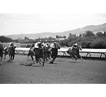 Horse Race Photographic Print