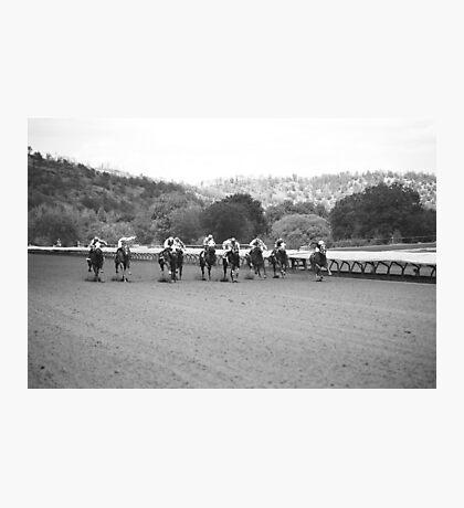 Horse Race Photographic Print