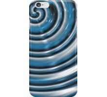 Metallic Blue Spiral Abstract I-Phone Case  iPhone Case/Skin