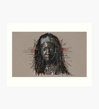 The Walking Dead Michonne Art Print