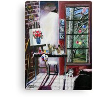 'Casual Observances (View from the Artist's Studio') Canvas Print