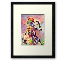 Rainbow Skeleton Framed Print