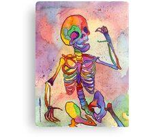 Rainbow Skeleton Metal Print