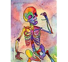 Rainbow Skeleton Photographic Print