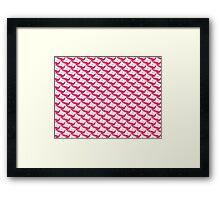 Yuri Kuma Lilly& dove Framed Print