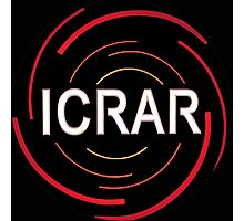 ICRAR Logo for Dark Backgrounds Photographic Print