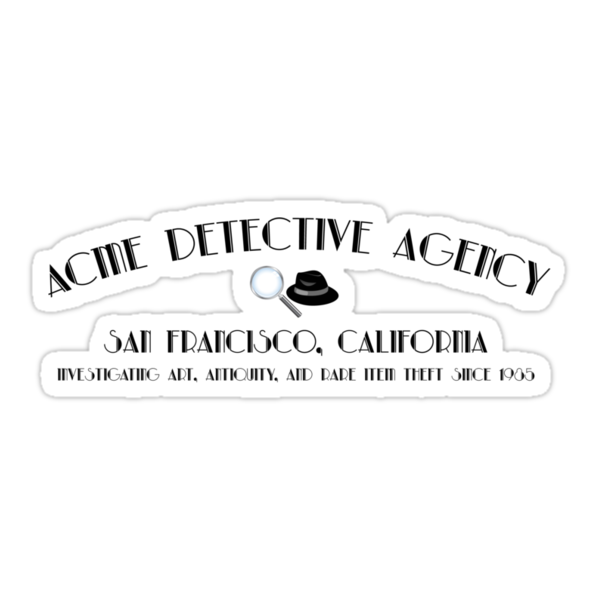 ACME Detective Agency Black Font  by Christopher Bunye