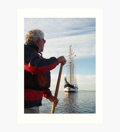 Sailing Tall Art Print