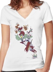 from thought to ink Women's Fitted V-Neck T-Shirt