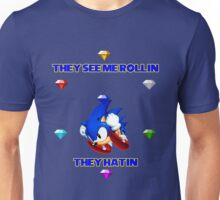 Sonic with emeralds Unisex T-Shirt