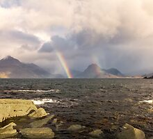 Elgol Rainbows Isle of Skye by derekbeattie