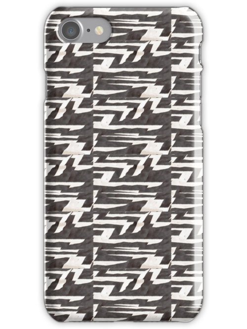 Zebra Stripes - iPhone Case by Cecily McCarthy