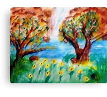 Meadow of release, watercolor Canvas Print