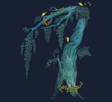 Tree Birds One Piece - Long Sleeve