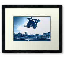 aqua air Framed Print